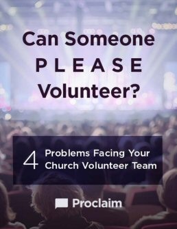 Can Someone Please Volunteer?