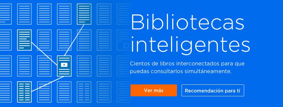 de libros interconectados para que puedas consultarlos simultáneamente.