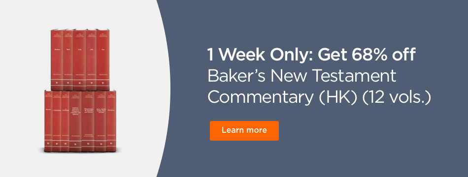 1 Week Only: Get 69% off Baker's New testament Commentary.