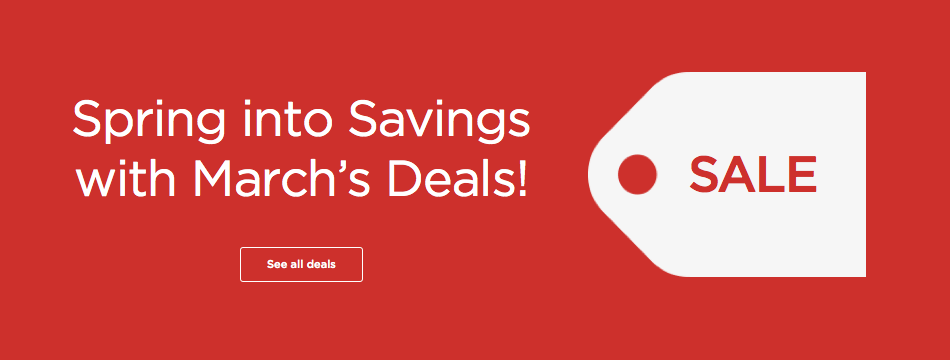 Spring into savings with March deals!
