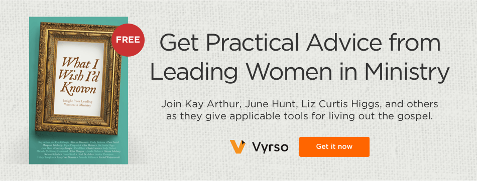 Get Practical Advice from Leading Women in Ministry. Join Kay Arthur, June Hunt, Liz Curtis Higgs, and others as they give applicable tools for living out the gospel.