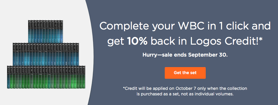 Get 10% back in Logos Credit when you buy the Word Biblical Commentary!