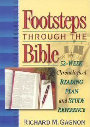 Footsteps Through the Bible: A 52-Week Chronological Reading Plan and Study Reference