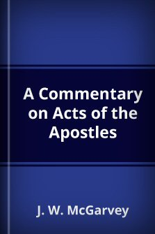 A Commentary on Acts of the Apostles