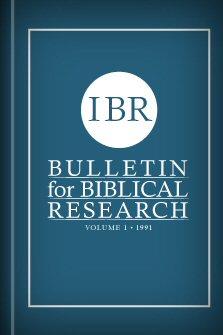 Bulletin for Biblical Research, vol. 1