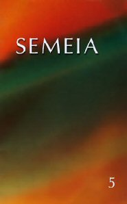 Semeia 5: Oral Tradition and Old Testament Studies