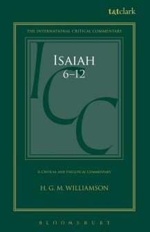 A Critical and Exegetical Commentary on  Isaiah 6-12 (ICC)