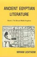 Ancient Egyptian Literature, vol. 1