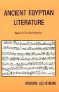 Ancient Egyptian Literature, vol. 2