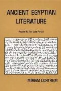 Ancient Egyptian Literature, vol. 3