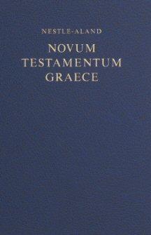 Nestle-Aland 27th Edition Greek New Testament (Morphological Edition) (NA27)