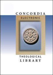 Concordia Electronic Theological Library: Collection 9 (6 vols.)