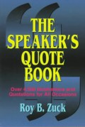 The Speaker's Quote Book