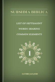 List of Septuagint Words Sharing Common Elements