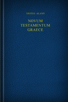 Nestle-Aland Greek New Testament, 28th Edition, with Morphology