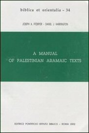 A Manual of Palestinian Aramaic Texts