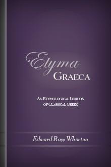 Etyma Graeca: An Etymological Lexicon of Classical Greek