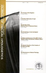 Journal of Biblical Apologetics, vol. 11