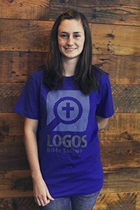 Logos Blue Binary T-Shirt