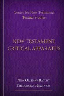 Center for New Testament Textual Studies' New Testament Critical Apparatus