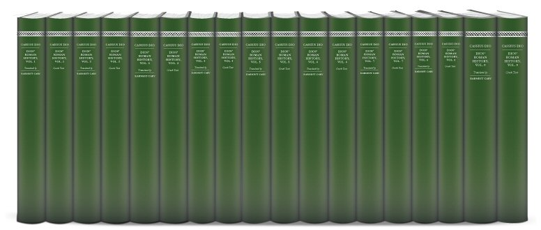 Cassius Dio's Roman History (18 vols.)
