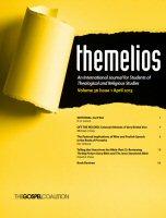 Themelios: vol. 38, no. 1, April 2013
