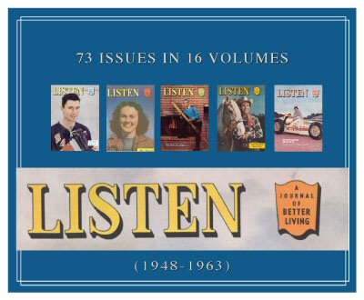 Listen Magazine (1948–1963) (16 vols.) (73 issues)