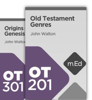 Mobile Ed: John Walton Background of the Old Testament Bundle (2 courses)