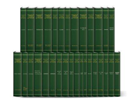 International Critical Commentary New Testament (32 vols.)