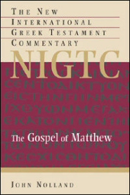 The New International Greek Testament Commentary: The Gospel of Matthew