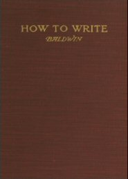 How to Write: A Handbook Based on the English Bible