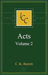 A Critical and Exegetical Commentary on the Acts of the Apostles, Vol. 2