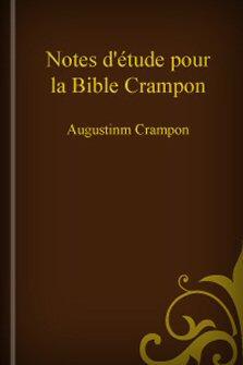 Notes d'étude pour la Bible Crampon