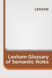 Lexham Glossary of Semantic Roles