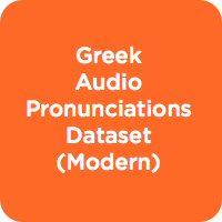 Greek Audio Pronunciation Dataset (Modern)