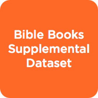 Bible Books Supplemental Dataset