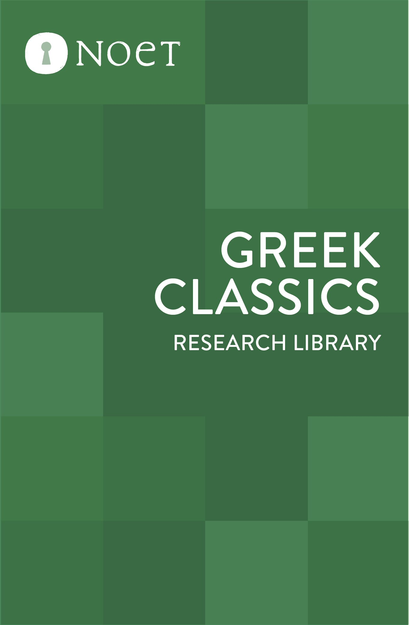 Greek Classics Research Library (110 vols. plus Perseus Greek Classics)