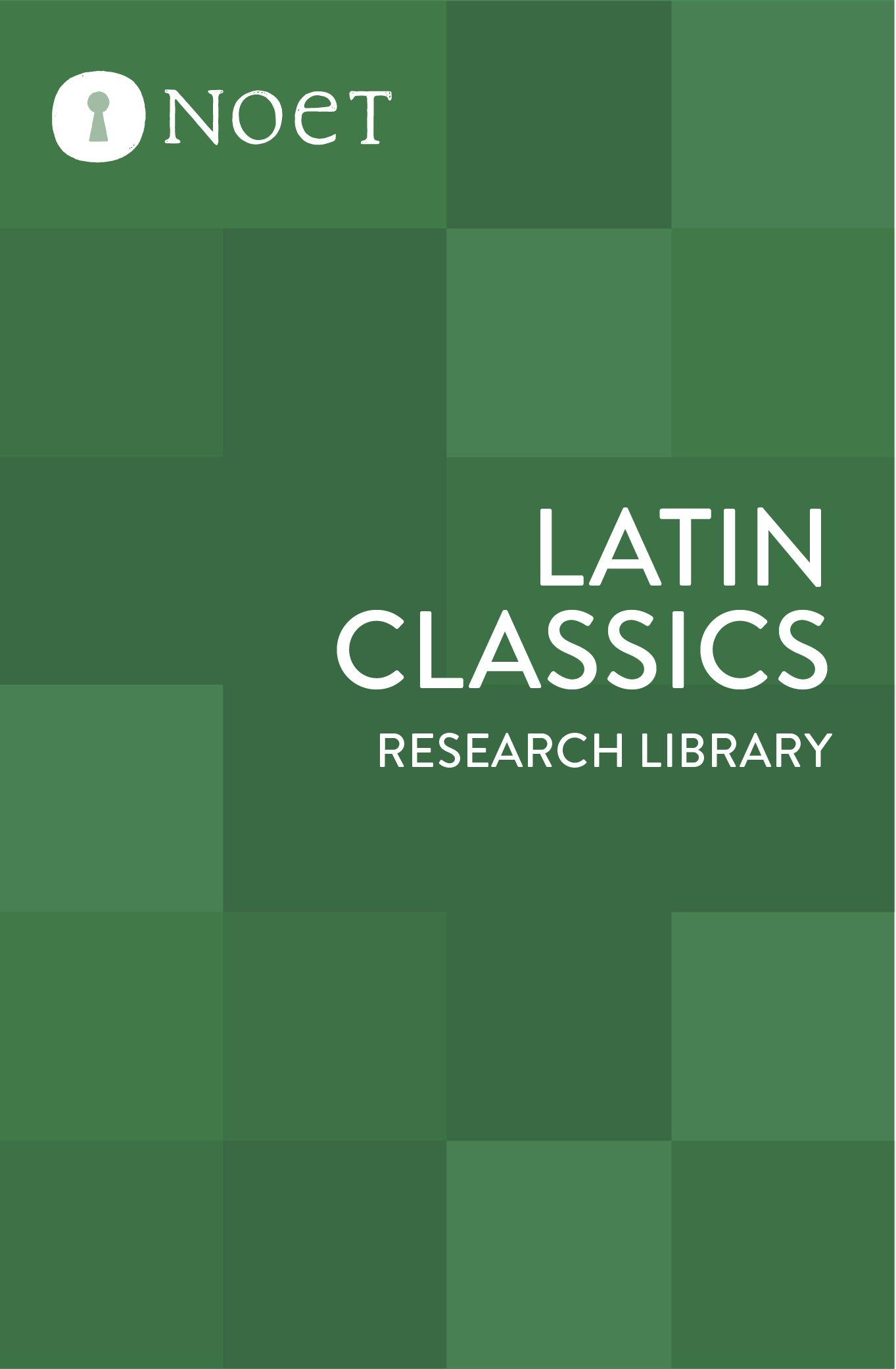 Latin Classics Research Library (77 vols. plus Perseus Latin Classics)