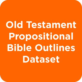 Old Testament Propositional Bible Outlines Dataset