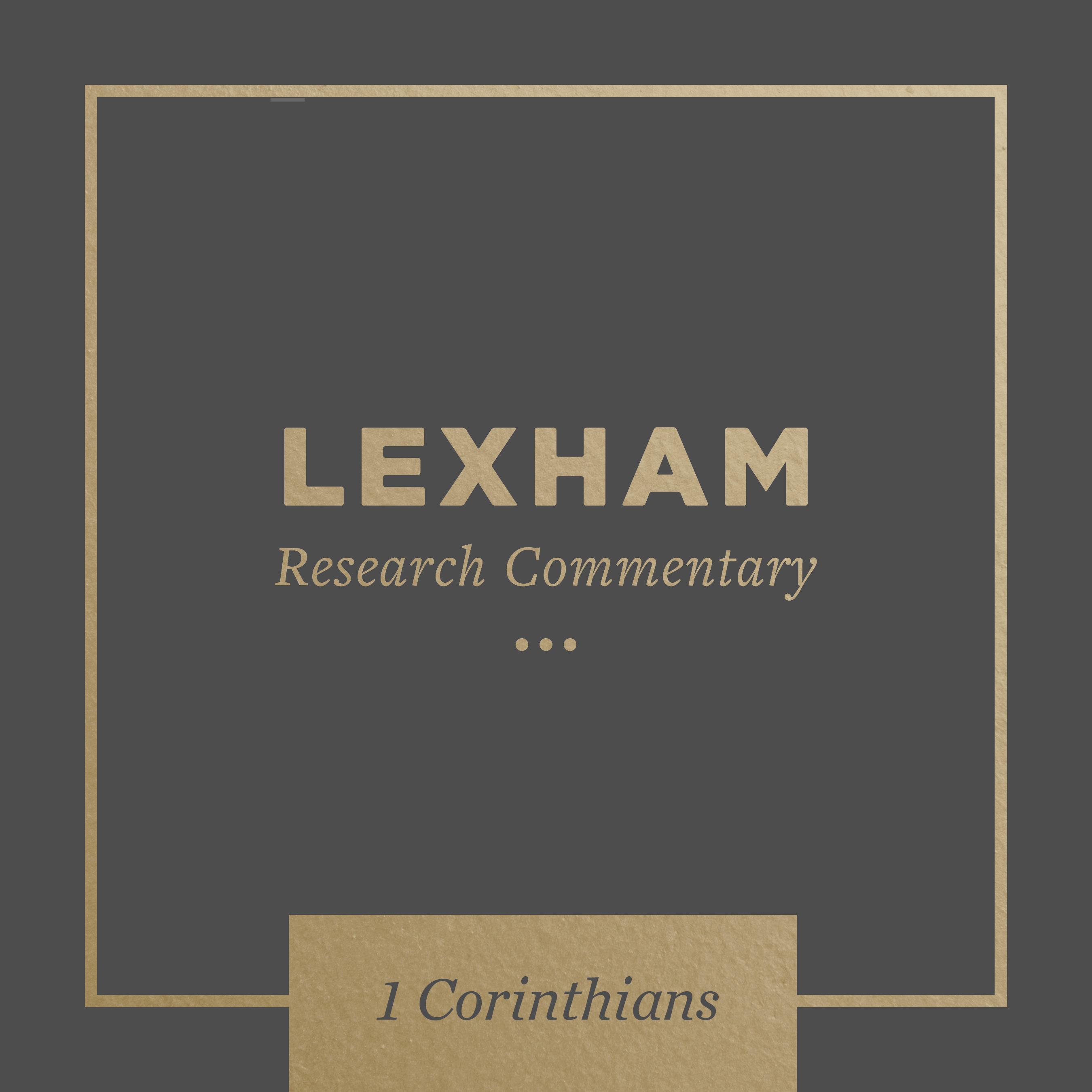 Lexham Bible Guide: 1 Corinthians