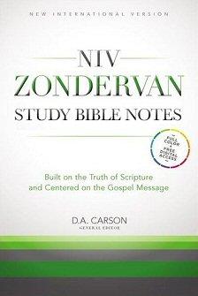 NIV Zondervan Study Bible Notes (NIVZSB)