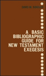 A Basic Bibliographic Guide for New Testament Exegesis, 2nd ed.
