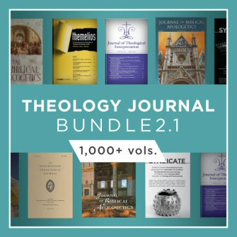 Theology Journal Bundle 2.1 (1,000+ vols.)