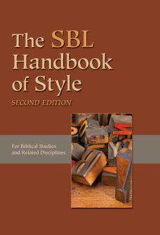 SBL Handbook of Style, Second Edition