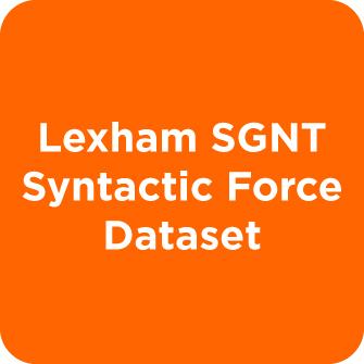 Lexham SGNT Syntactic Force Dataset